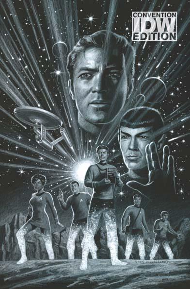 Star Trek Year Five #1 Hildebrandt Negative Convention Variant