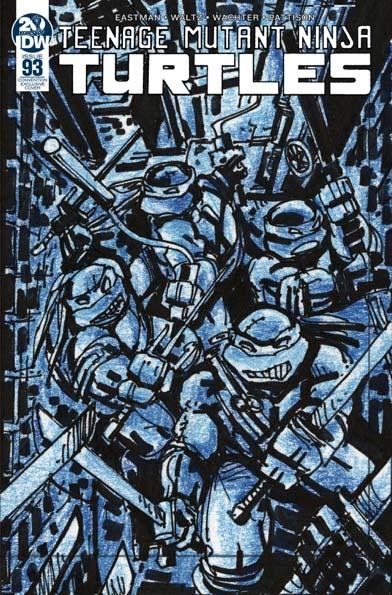 TMNT #93 Kevin Eastman Convention Blue Line Variant