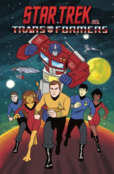 Star Trek vs. Transformers TP Animated Art Convention Variant