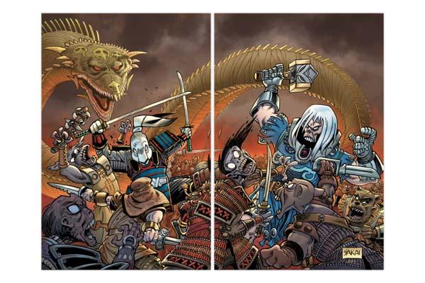 Usagi Yojimbo & Ragnarok Two-Comic Variant Bundle