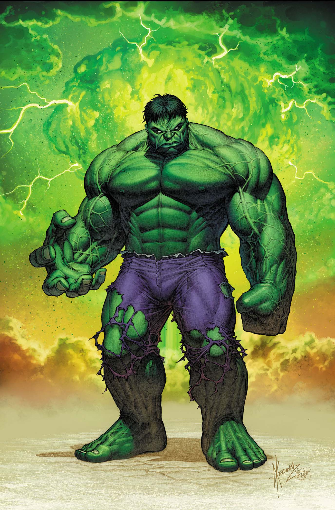 It is a graphic of Fan Images of Hulk