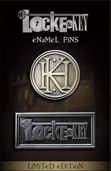 Locke & Key Logo and Emblem Pin Set