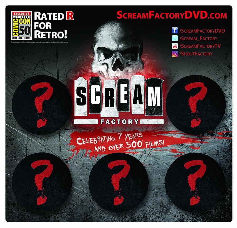 Scream Factory 5-Button Pack