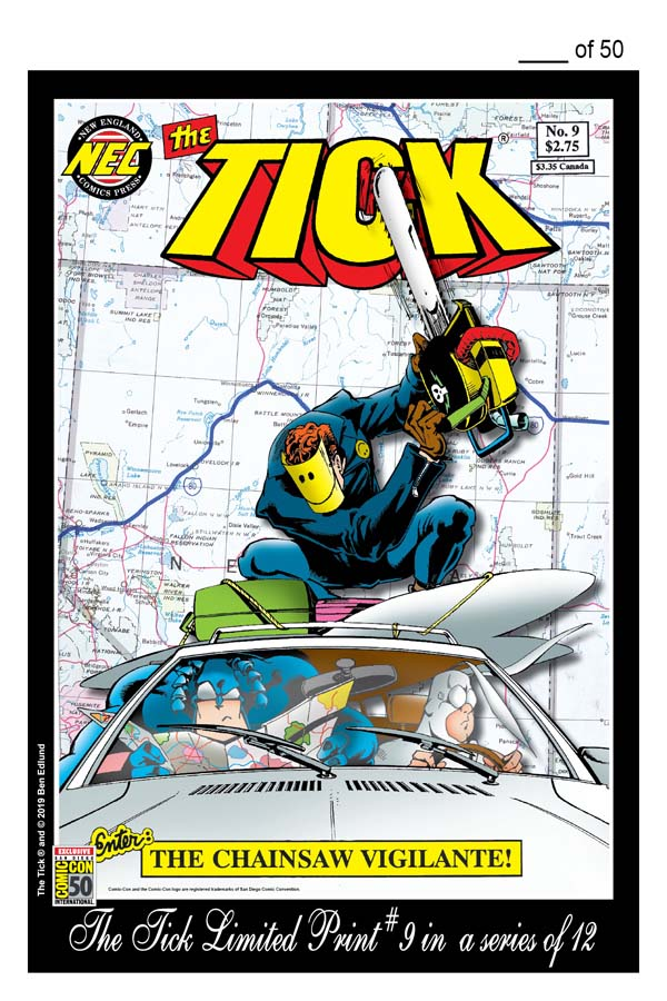 THE TICK SDCC 2019 LIMITED PRINT #9