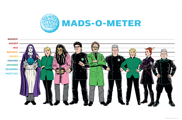 MST3K Mads-O-Meter 12x18 Lithograph