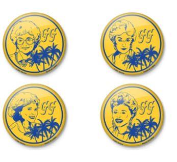 Golden Girls - 4 Button Set